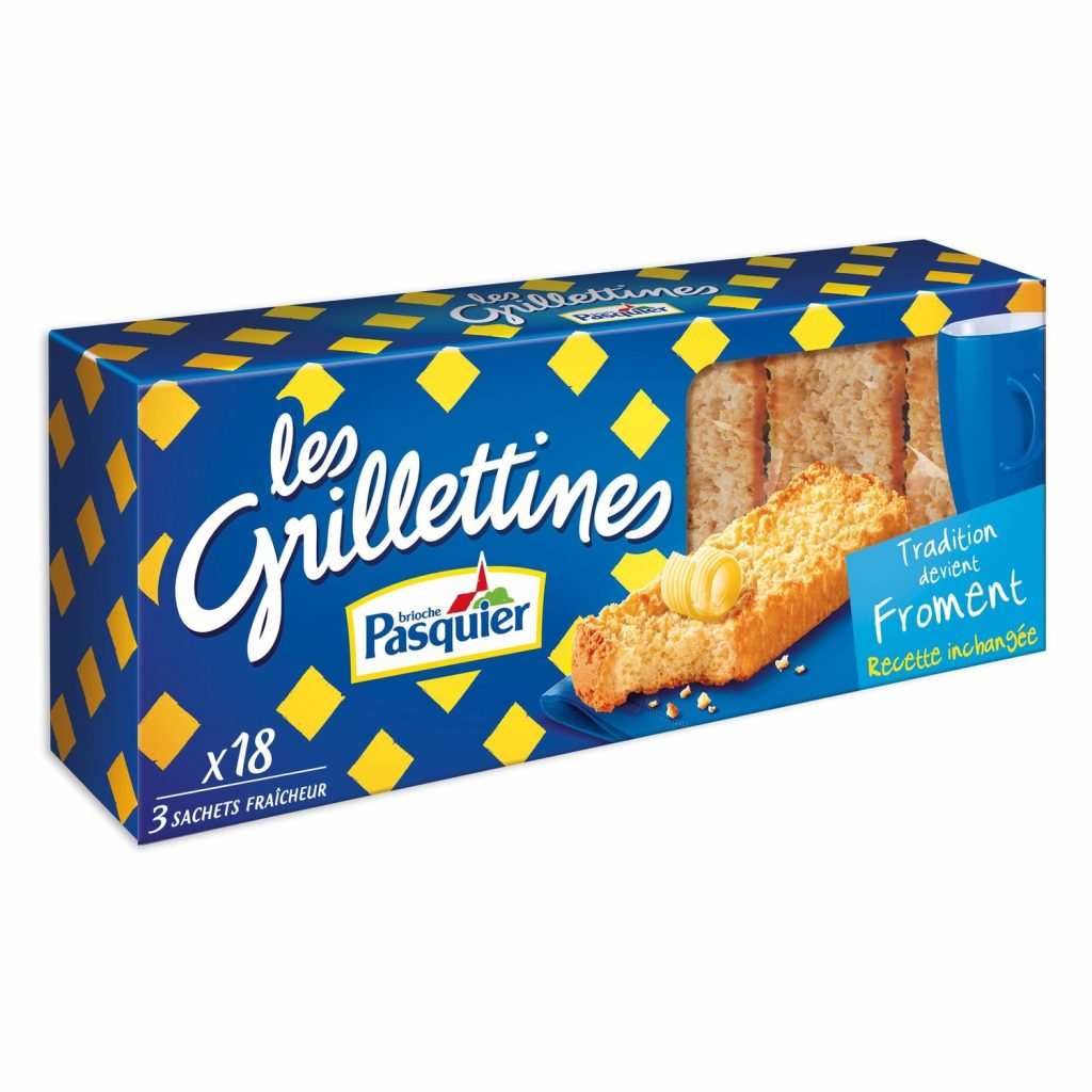 """Grillettines"" Wheat Rusks Pasquier"