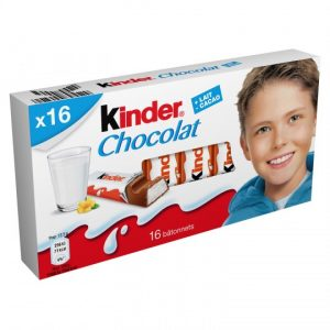 Chocolate Bars Kinder Chocolat X16